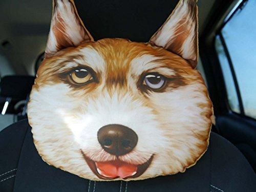 Siberiano Rojo huskey Placa Frontal suave cojín REGALO 3d estampado perro REGALO DE CUMPLEAÑOS