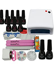 Coscelia 36W Lampe Blanc Séchoir Nail Art Manucure Vernis à Ongles Primer Top Coat Sticker Decor Kit …