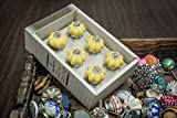 Casa Decor New Year Sale of Set of 6 Yellow Melon Design Handmade Drawer Pull Cabinet Dresser Handle Wardrobe Ceramic Knobs