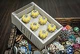 #9: Casa Decor New Year Sale of Set of 6 Yellow Melon Design Handmade Drawer Pull Cabinet Dresser Handle Wardrobe Ceramic Knobs