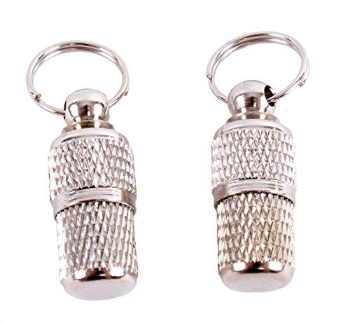 2 geriffelte Adressanhänger für Katzen und Hunde geeignet / Hübscher Halsbandanhänger aus Metall (2 Stück Packung) - 2