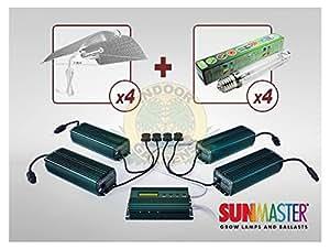 Mega Kit 4x600w iGrow Controlleur + 4 Ballasts + 4 Ampoules + 4 Ref