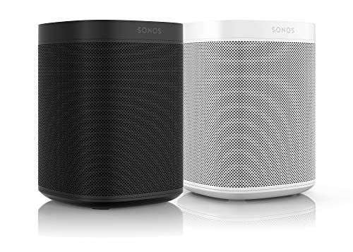 Sonos One Smart Speaker 2-Raum Set, weiß / schwarz - Intelligente WLAN Lautsprecher mit Alexa Sprachsteuerung & AirPlay - Zwei Multiroom Speaker für unbegrenztes Musikstreaming