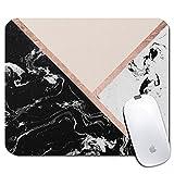 Tapis de souris rectangle personnalisé, motif de marbre imprimé, tapis de souris personnalisé confortable en caoutchouc antidérapant (9.45x7.87inch)