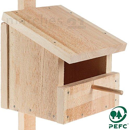 matches21 Nistkasten Höhle / Halbhöhle als Massiv Holz Bausatz Bastelset Werkset für Kinder ab 12 Jahren