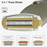 Lady Shaver Rechargeable Electric Razor Women Shaver Wet And Dry Cordless Waterproof Portable Painless In Shower For Underarm Neck Arm Legs W LED Light 3 In 1 Sharp Blade Easy And Quick Girls Shavers