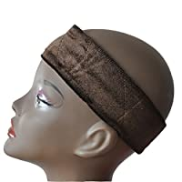 3 Colors Flexible Wig Grip Head Hair Band Adjustable Fastern Wig Brown