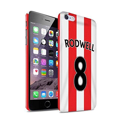 Offiziell Sunderland AFC Hülle / Glanz Snap-On Case für Apple iPhone 6+/Plus 5.5 / Pack 24pcs Muster / SAFC Trikot Home 15/16 Kollektion Rodwell