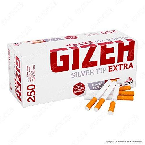 Gizeh 10000 Tubi Sigarette Vuote Con Filtro Doppio Extra Tip 40 scatole da 250 tubetti