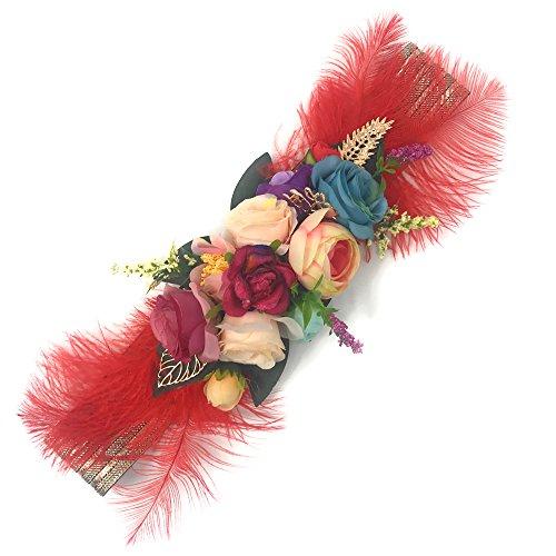 Ever Fairy moda flor cinturones para mujer niña dama de honor vestido de  satén cinturón boda c2891397cf