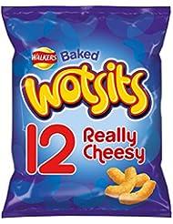 Walkers Wotsits Really Cheesy Multipack Snacks, 12 x 16.5 g