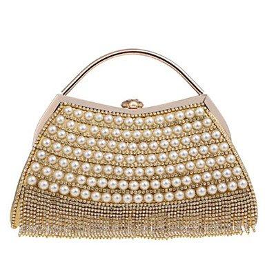 Best 4U® Damen Taschen Polyester Abendtasche Knöpfe Quaste für Normal Alle Jahreszeiten Blau Gold Schwarz Silber Rote Gold -