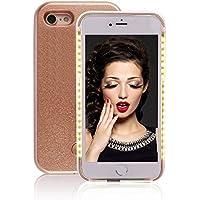 GSY Selfie Light iPhone Coque, Rechargeable à LED Flash d'éclairage Selfie Coque pour Apple iPhone, Rose Gold, iPhone6Plus/6sPlus