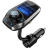 [2017 Version] Bluetooth FM Transmitter, OMorc KFZ Auto Radio Adapter Auto Bluetooth Freisprecheinrichtung Bluetooth USB Auto-Ladegerät Car Mp3 Player Bluetooth Car Kit mit 2 USB Ladegerät, 1,44-Zoll-Bildschirm in 270 Grad, Einschalten / Ausschalten-Silber