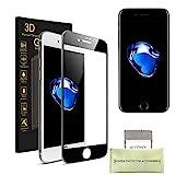 iPhone 6 Plus/iPhone 6s Plus Pellicola Protettiva, AKPATI Temperato di Protezione in Vetro Dello Schermo 4D Toccare Alta Definizione Anti-Explosion Schermo Protezione (5.5 Pollice) – Nero