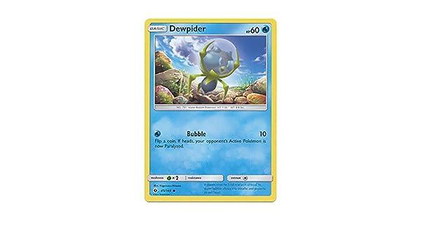 POKEMON SUN /& MOON CARD DEWPIDER 45//149