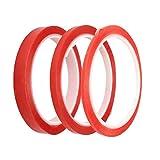 Bead Shop Super Sticky, rot Einsatz Doppelseitiges Klebeband transparent, Pack von 3Größen–3mm, 6mm und 12mm (5mtrs Pro Rolle) Mobile Phone Repair, Büro, DIY Basteln, Alben, Dokument Reparatur