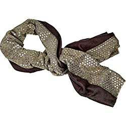 Spiegelburg Fular Pañuelo de Cuello Accesorios Moda Mujer con Lunares Puntos Dorados 90x180 cm