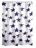 Ridder Duschvorhang Textil Star Blau 180x200 cm