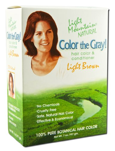 Colour the Grey!, Natural Hair Colour & Conditioner, Light Brown, 7 oz (197 g) -