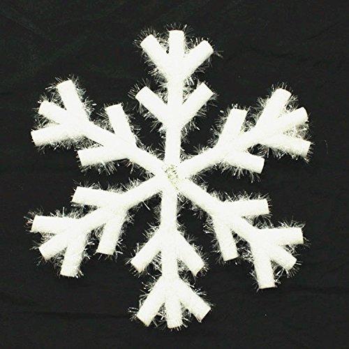 Reyqing Weihnachten Schneeflocke Schneeflocken Weihnachtsschmuck Fenster Kleid Ornamente Dreidimensionale Szene Layout, Sechs Bar Schneeflocke Trompete (23 Cm)