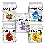Tassimo Sweet Dreams Set: Milka Kakao, Suchard Kakao, Oreo, Chai Latte, Cappuccino, Heiße Schokolade, Milchtee, 5 Sorten T-Discs