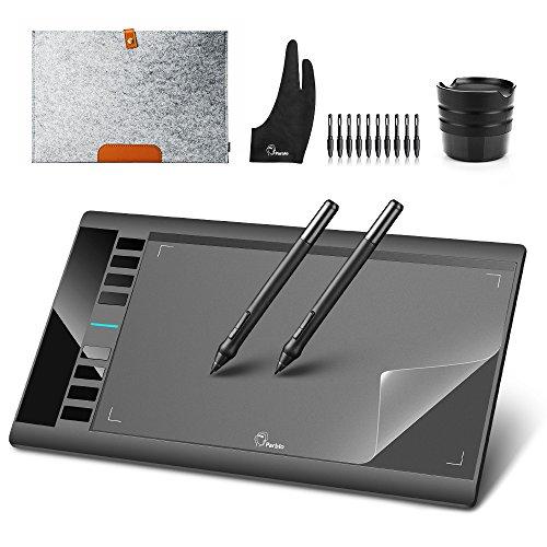 """Grafiktablett Stifttablett Parblo A610 10 x 6\"""" Zeichnung Tablet mit Stift für Grafikprogramme Photoshop Painter Comic Studio/Sai IS 3DMAX Maya Zbrush, Win7/8/10 Windows XP Mac OS Schwarz Neu 2018"""
