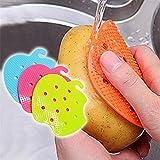 Generic rosa: limpiador de brochas de frutas verduras herramientas de cocina multifunción fácil cepillo de limpieza para la cocina de patata Home Gadgets herramienta de cocina
