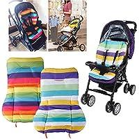 Vicky - Colchoneta para silla de paseo (impermeable, 1 unidad), diseño de arcoiris
