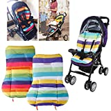 Vicky Store 1 pc Cute Waterproof Cushion Padding Liner Seat Pad Rainbow For Baby Stroller Pram Random colour