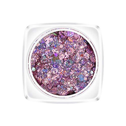 Louyihon-New Thick Flash Nail Nail Sequins Rainbow Color Slim Tips Colorful Brightening Nail Powder (Mehrfarbig E)