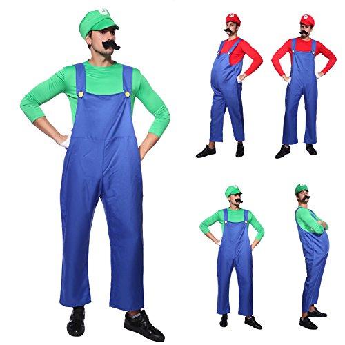 Imagen de cle de tous  disfraz de luigi para adulto hombre cosplay dress fiesta carnaval halloween talla m 40 l 42  talla m 40