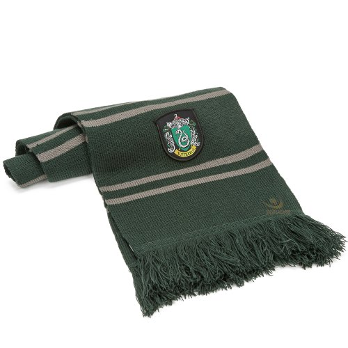 Cinereplicas - Harry Potter - Echarpe - Licence Officielle - Maison Serpentard - 190 cm - Vert et Gris