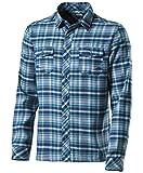 McKinley Herren Freizeithemd Outdoor Flanell Langarm Hemd Walla blau multicolor, Größe:XXL