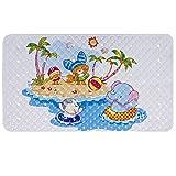 Baby Badewannenmatte Schönen Optik Anti-Rutsch Badematte PVC Karikatur Entwurf Massage Dusche Badematte mit Saugnäpfen für Baby Kinder 40 x 70 cm