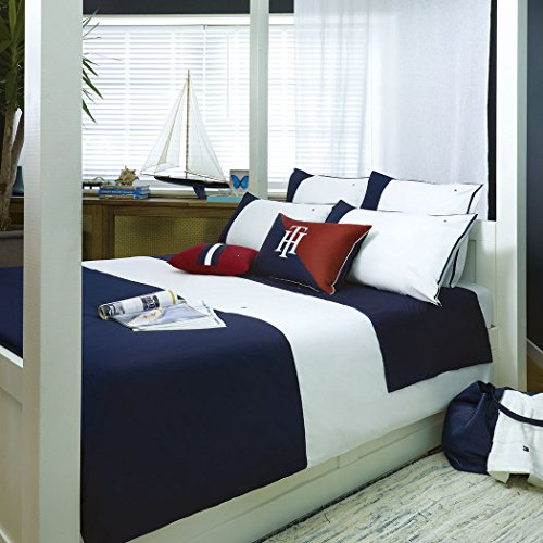 äsche Colour Block Navy 1 Bettbezug 155 x 220 cm + 1 Kissenbezug 80 x 80 cm ()