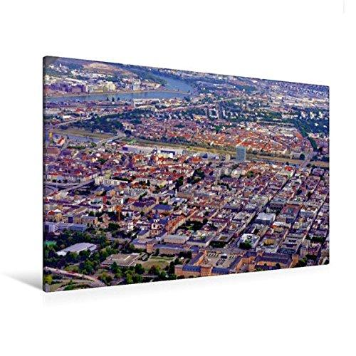 Calvendo Premium Textil-Leinwand 120 cm x 80 cm quer, Innenstadt, Mannheim/Deutschland | Wandbild, Bild auf Keilrahmen, Fertigbild auf echter Leinwand, Leinwanddruck Orte Orte