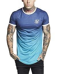 Camiseta Siksilk – S/s Contrast Poly Fade Gym Azul/Turquesa/Blanco