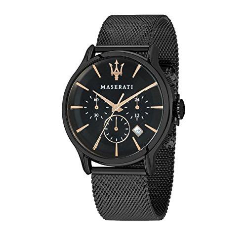 Maserati R8873618006 - Reloj de Pulsera Hombre, Color Negro