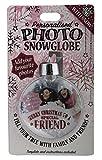 H & H personalisiert Foto Schneekugel Weihnachtskugel–Special Friend