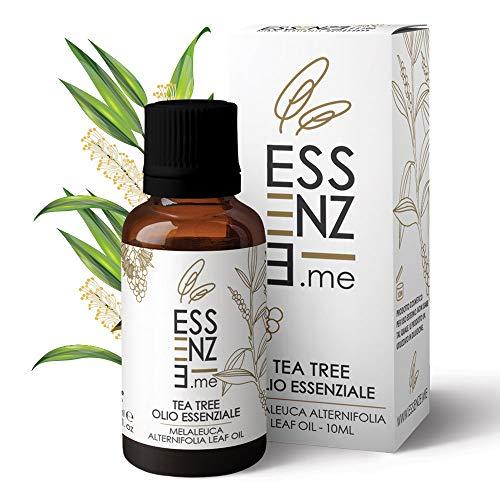 Essenze olio essenziale di tea tree puro al 100% naturale, per diffusore oli essenziali aromaterapia, profumo ambiente, cura del corpo e della pelle. controllato e confezionato in italia.