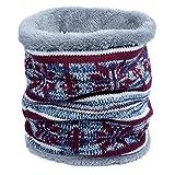 ANVEY Unisex Tube Écharpe Cachemire Chaud Snood D'hiver Épaisseur Foulard Couleur 1