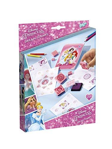 TM Essentials Disney Princess Dream Stamps -Stempel Set mit Princess-Stempel, Stempelkissen, Farbstiften und Zeichenblock