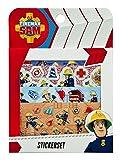 Undercover FSTU0032 - Feuerwehrmann Sam Stickerset, mit Metallic und Pop Up Effekt