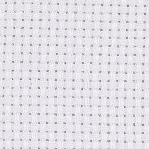 Aida Stoff, Größe 50x50 cm, weiß, 1 Stck.