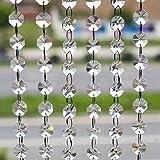 10M Türvorhang Kristall Girland Crystal Clear Acrylic Bead Garland hängende Partei Dekor Hochzeit DIY Dekor Anhänger Perlenvorhang ( Klar Octagonal Perlen )