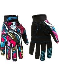 Hakkin Femmes Hommes gants antidérapants Coloré Pour en plein air de vélo de montagne en hiver Gants doigts complets Pour la route vélo de course dérapage gants de ski D'equitation Vélo Moto Motocross gants