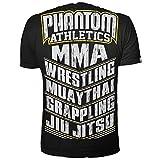 "Phantom Athletics T-Shirt ""MMA SPORTS"" - Black/Yellow-Large"