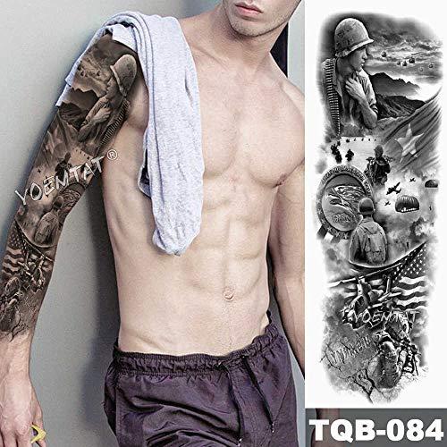 Handaxian 3pcsBig Arm Ärmel Tattoo Engel Flügel Taube Jesus wasserdicht Tattoo Aufkleber Heilige Männer Totem Tattoo