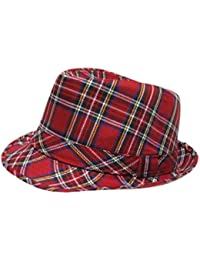 Tartan Check Crushable Trilby Fedora Hat